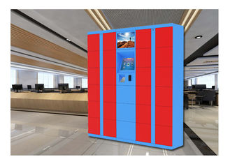 China PIN-code Barcode Smart Luggage Lockers / High-end elektronische opslag Airport Lockers fabriek