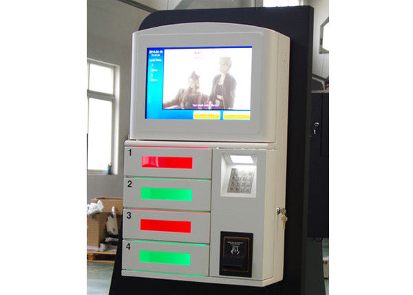 Magstripe Card / IC Card / Member Card Accepted Cell Phone Charging Station with 19 Inch Touch Screen