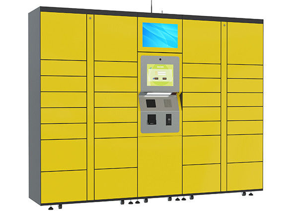 15 inch Touch Screen Parcel Delivery Lockers , Computer System Parcel Locker Service