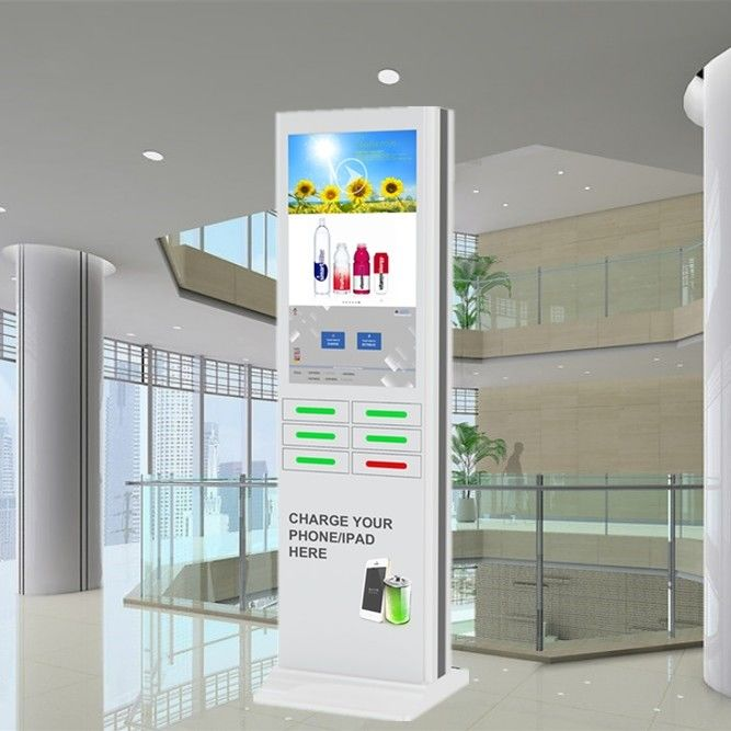 Coin Operated Mobile Phone Charging Station , Cell Phone Charger Kiosk