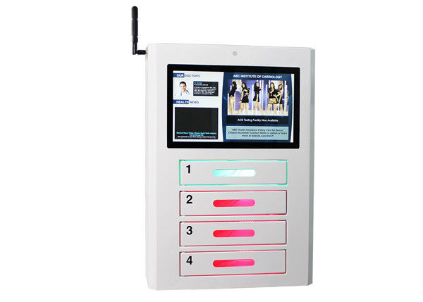Network Signage Wifi Public Cell Phone Charging Station LCD Advertisement Display
